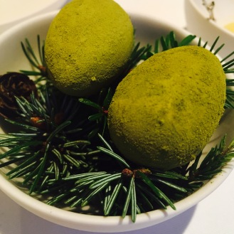 Pine Dusted Chocolate Eggs