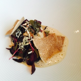 Cep Mushroom Soup, White Truffle, Dark Beer & Blackcurrant Leaves